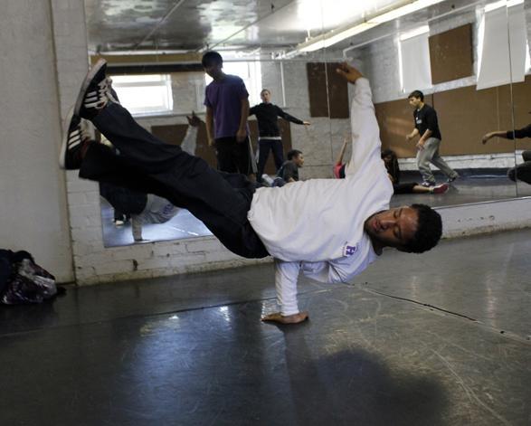 Break dance practice