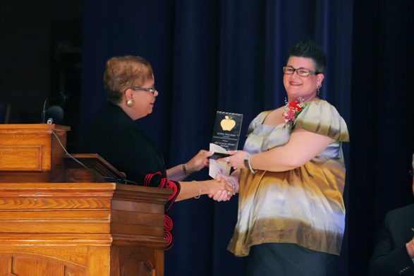 Ms. Williams given ExCEL Award at in-school ceremony, praised for depth of classes