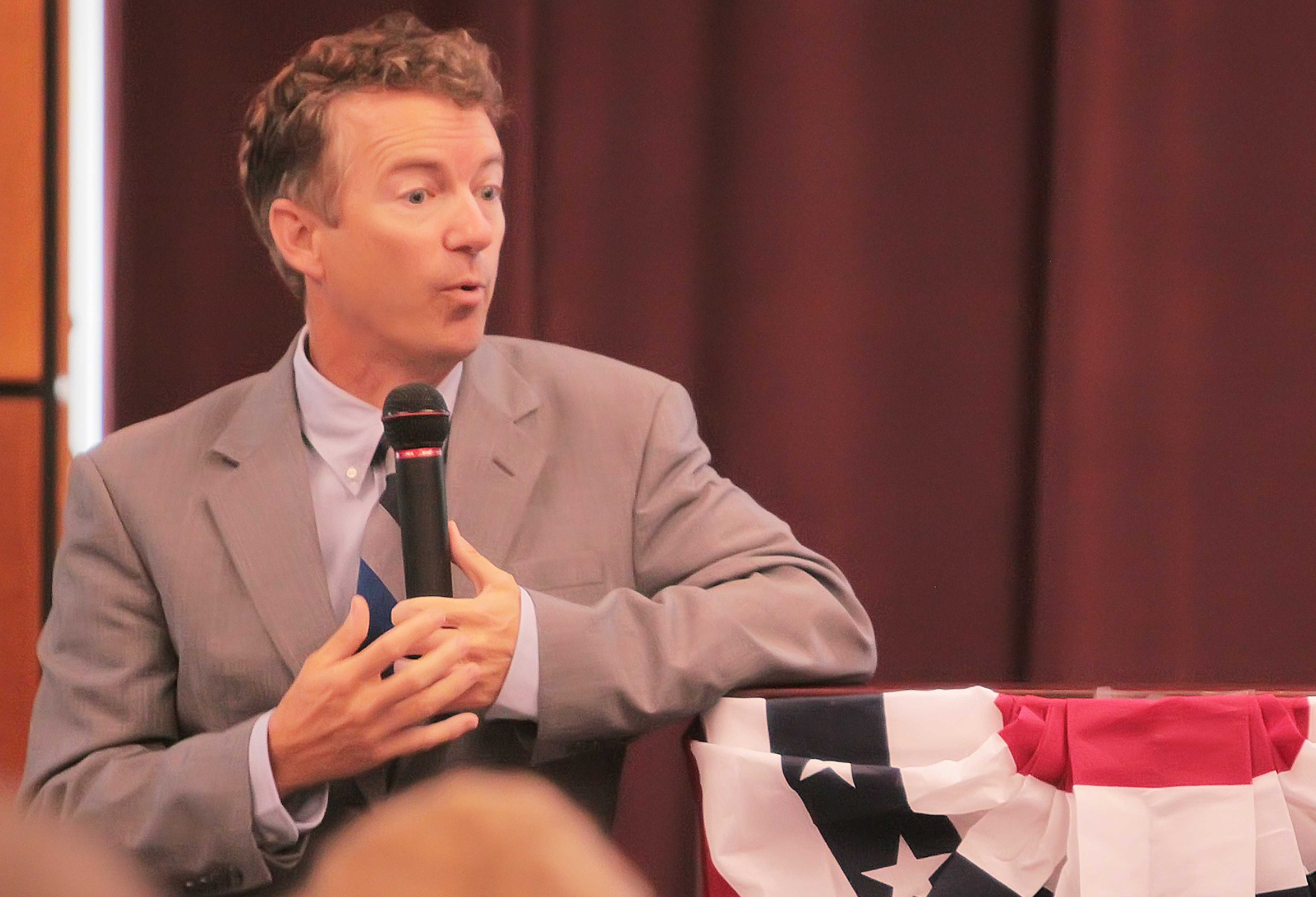 Young Democrats and Teen Republicans go to Rand Paul speech