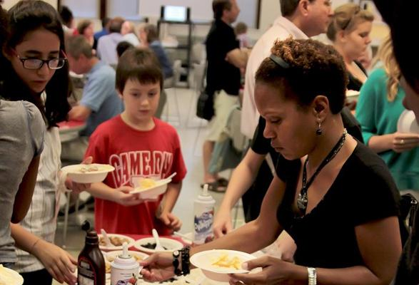 The Ice Cream Social was a time for the freshmen and their parents to get to know the magnet.