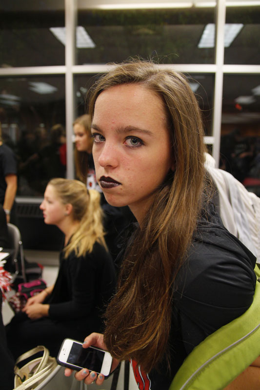 Renee DuFour (11) shows off her gothic makeup before school. Photo by Kinsey Ball
