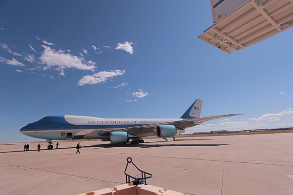 PHOTOS: President lands for Denver debate