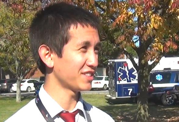 Manual alumnus Nick Do volunteered for debate activities on Centres campus.