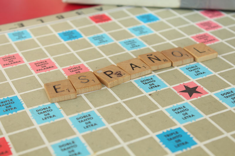 Spanish Scrabble was offered for the members to play at the social.