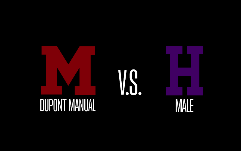 Manual vs. Male boys' varsity basketball game