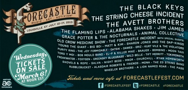 Forecastle Festival announces lineup featuring artists like The Black Keys and The String Cheese Incident