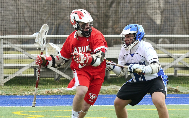 Manual Varsity Lacrosse team defeats KCD Crusaders in season opener