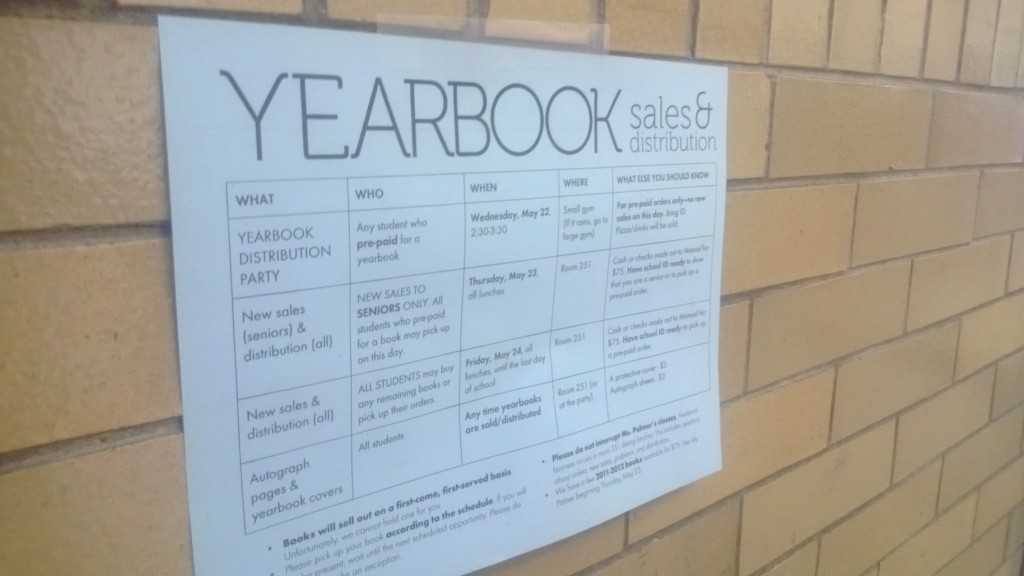Yearbooks to be distributed on Wednesday, May 22