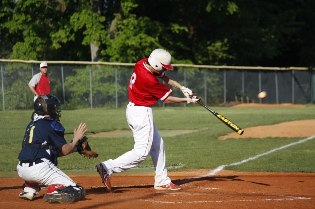 Jarrett Harness makes a good swing while up to bat.