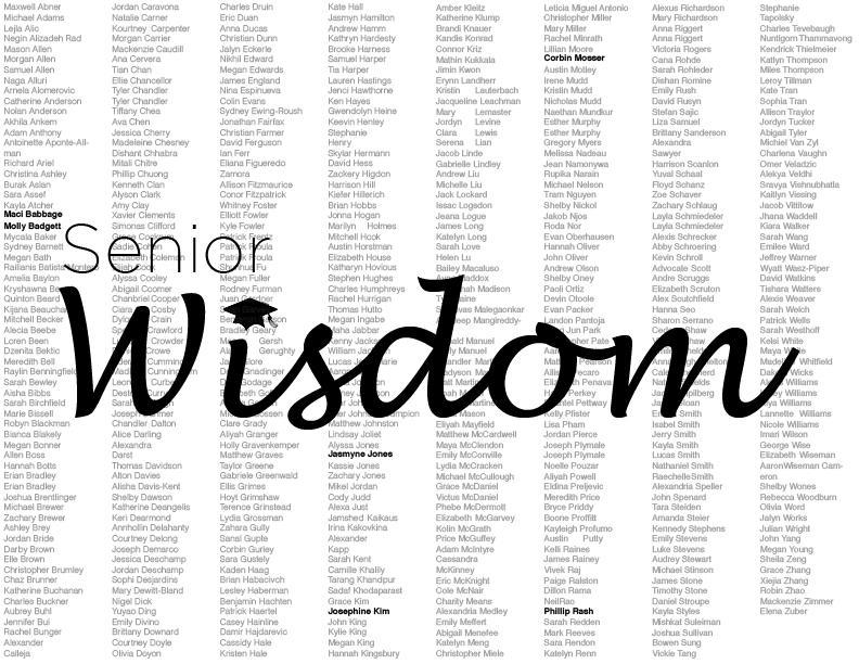 Seniors share their memories and advice for future generations