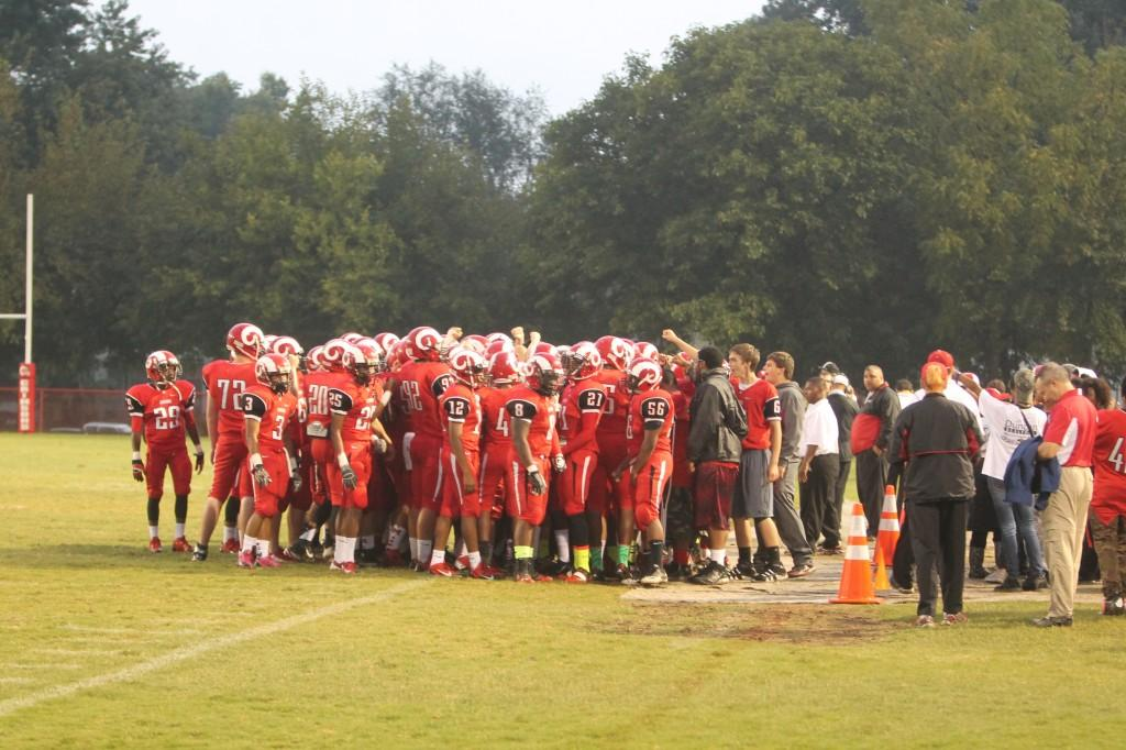 Football team holds annual spring game
