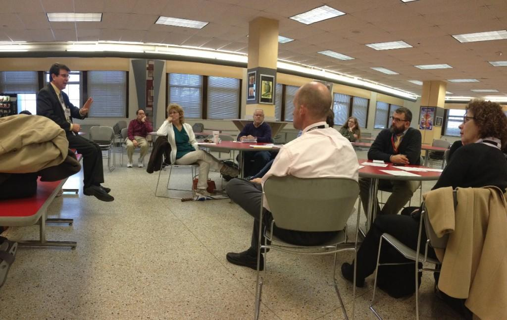 JCTA meeting in the freshman cafeteria. Photo by Farren Vaughan