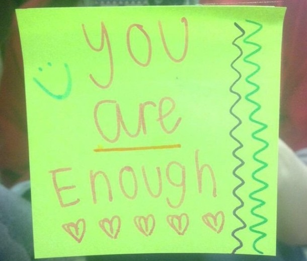 Student places notes in girls' bathrooms to promote self-love