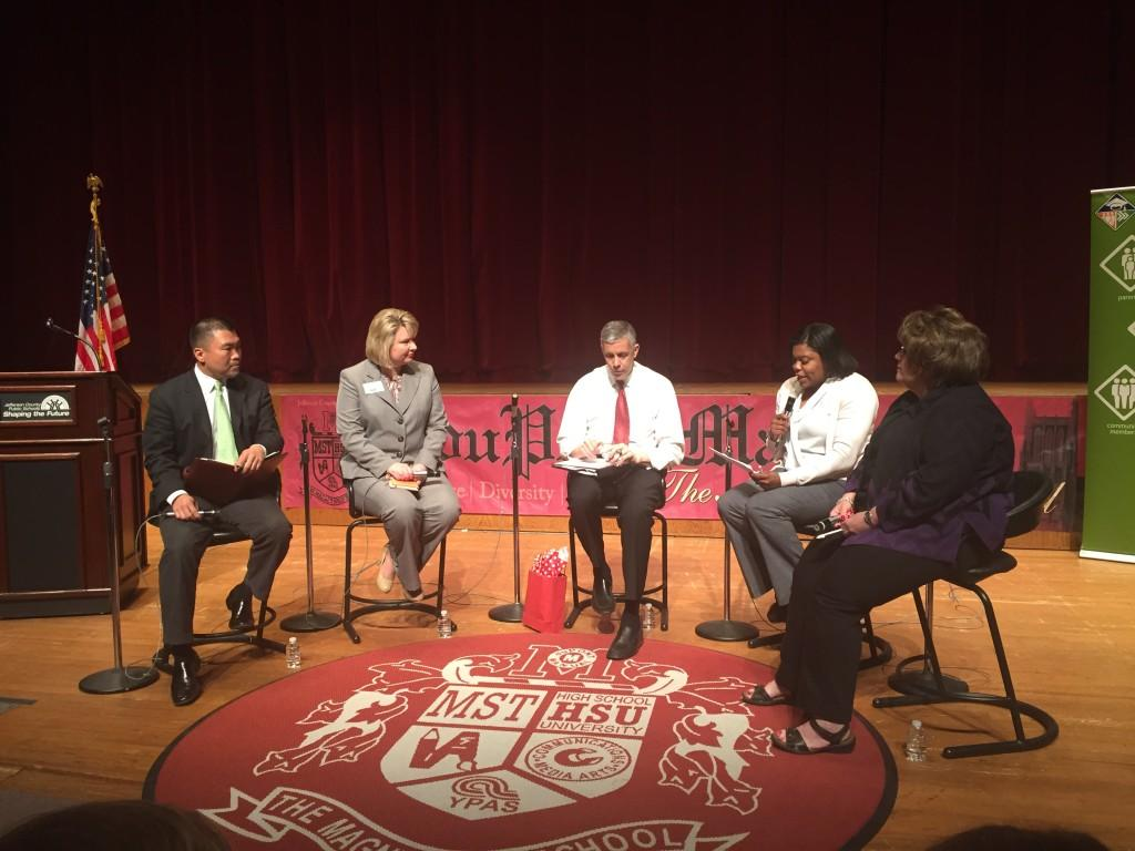 Arne Duncan discusses education in the YPAS Auditorium