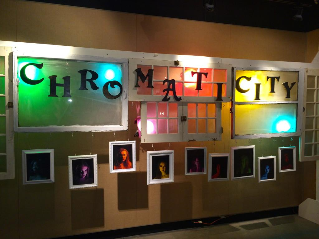 The opening display for the latest VA gallery, Chromaticity.