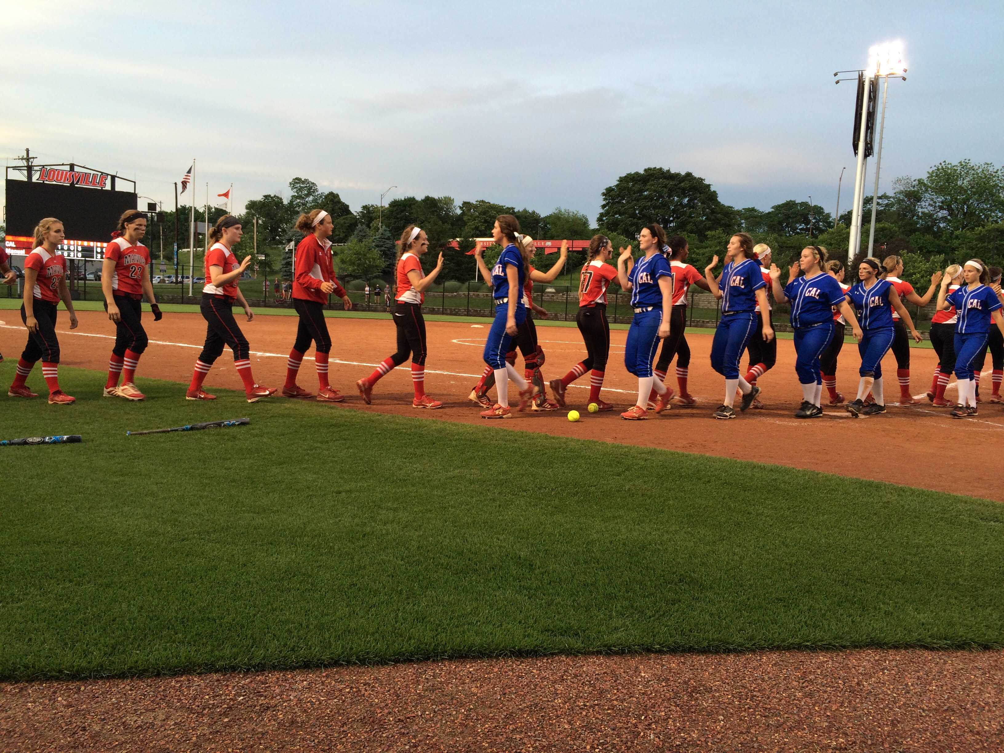 Manual softball season cut short by CAL after late game rally