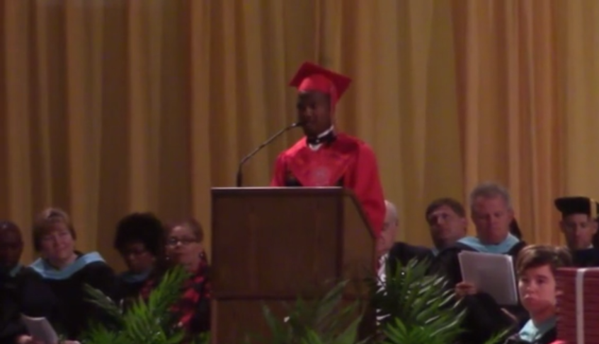 Brandon Colbert delivers speech to the Class of 2015