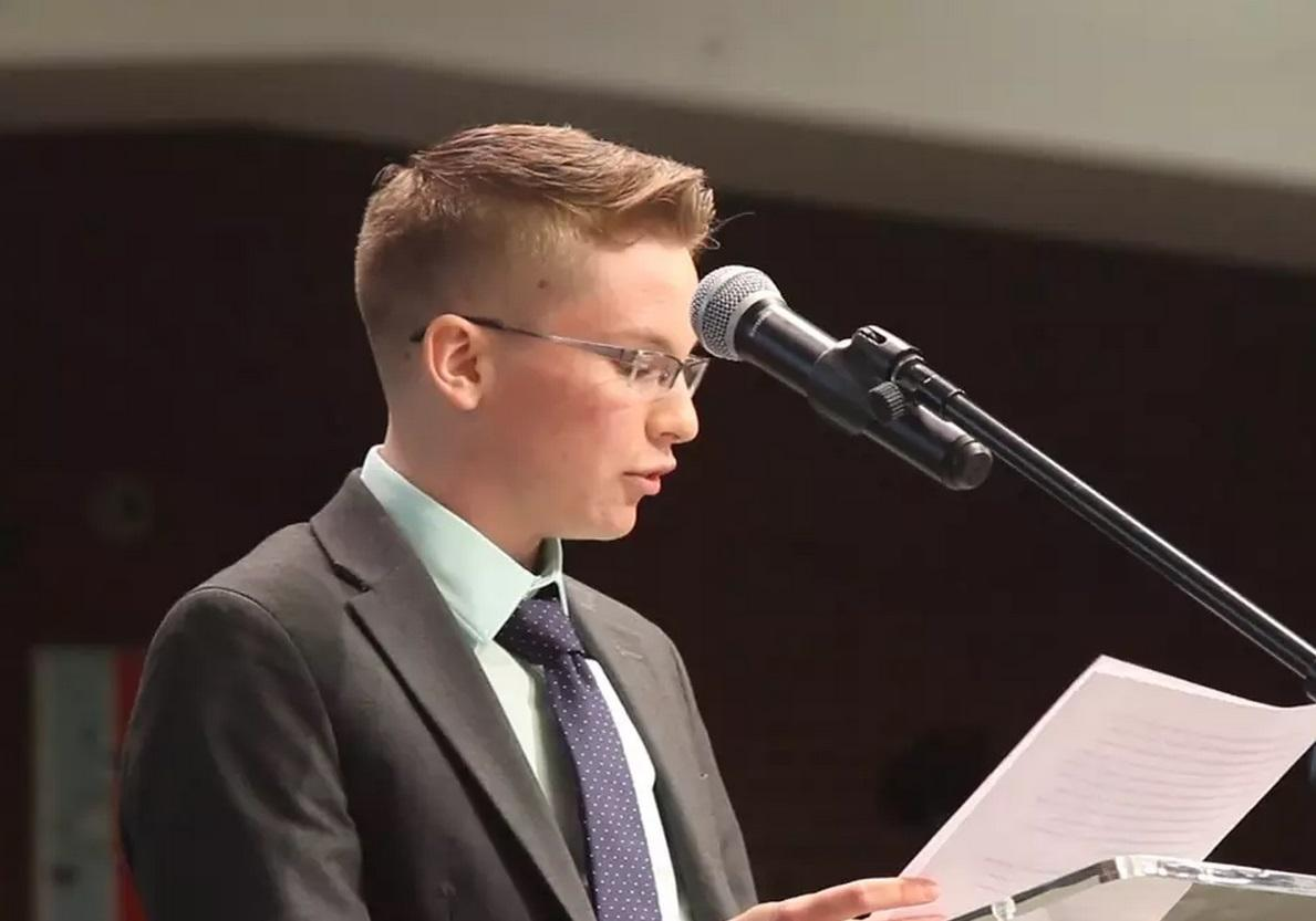 Manual graduate Casey Hoke, who addressed the JCPS board about his experiences as a transgender male student, will be attending the California State Polytechnic Institute of Pomona this fall. Photo by Peter Champelli.