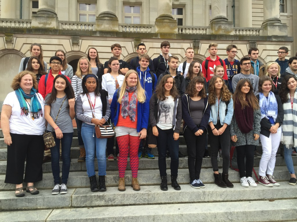 French exchange students visit Manual