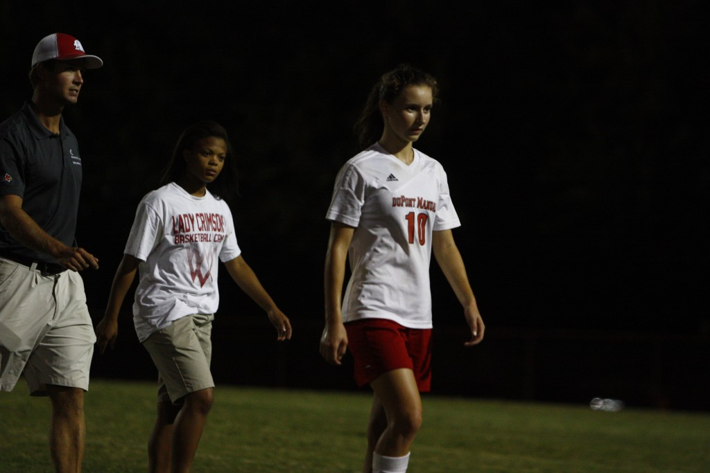 Emina Ekic (11, #10) against Male on September 24, 2015. Photo by Grayson Smith.