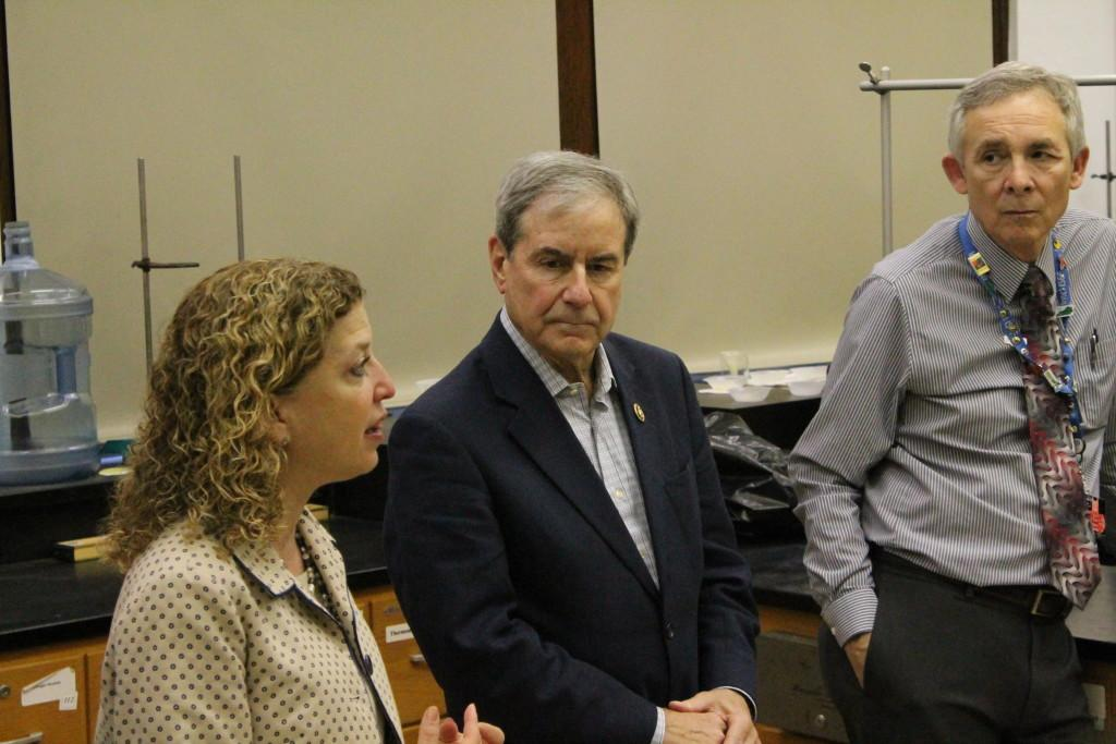 Reps. Yarmuth and Wasserman-Schultz speak to Manual students. Photo by Kaylee Arnett
