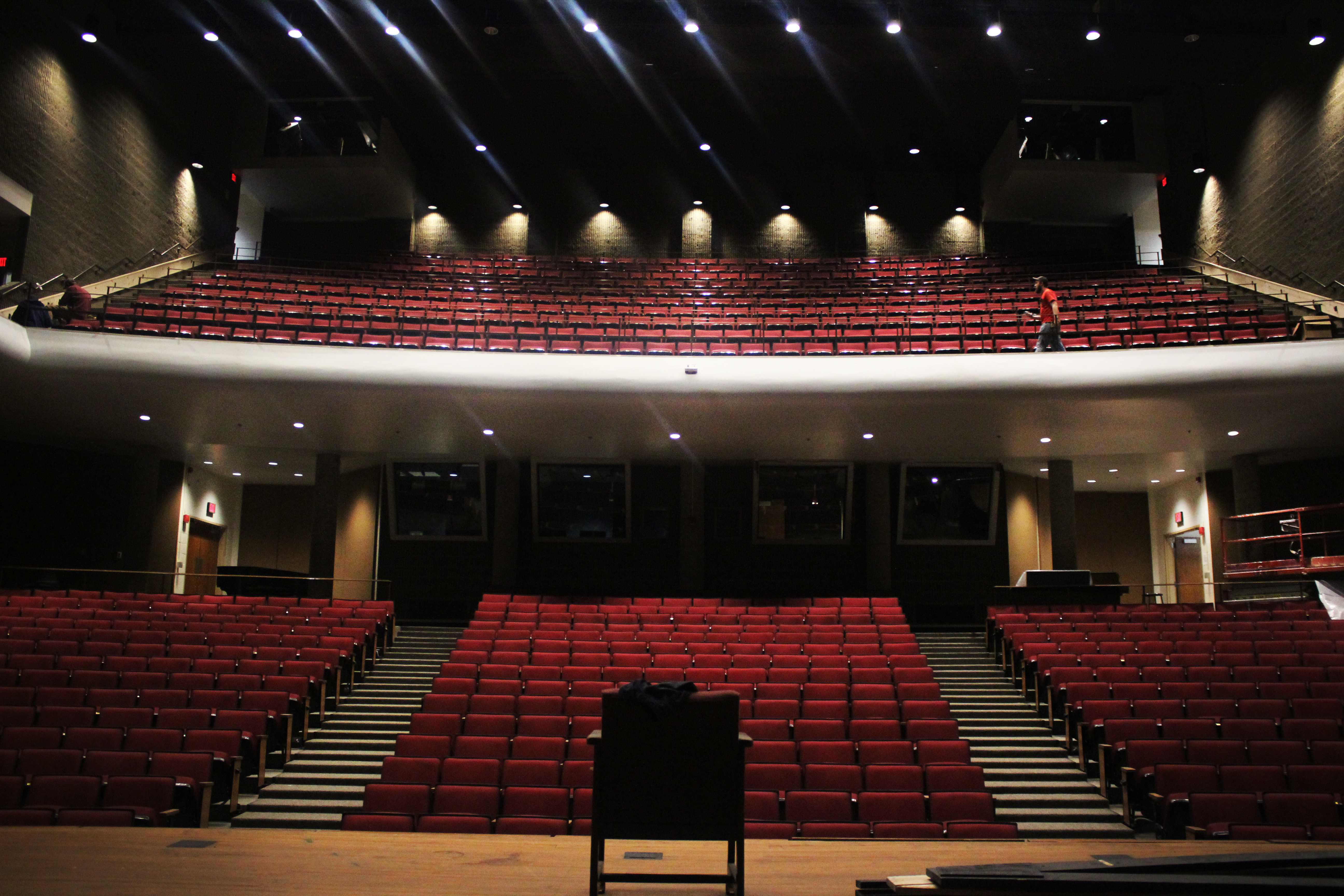 New seating installed to the YPAS auditorium Friday Dec. 2, 2016. These new seats replaced the previous seating that Mr. Krady referred to as