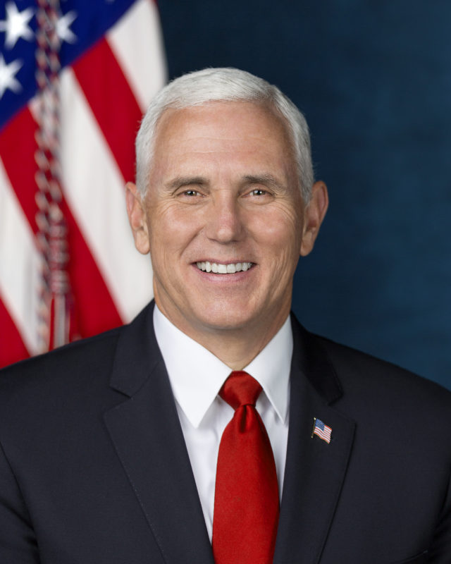 Vice President Micheal Pence poses for his official portrait at The White House, in Washington, D.C., on Tuesday, Oct. 24, 2017. Photo courtesy of WikiMedia Commons.