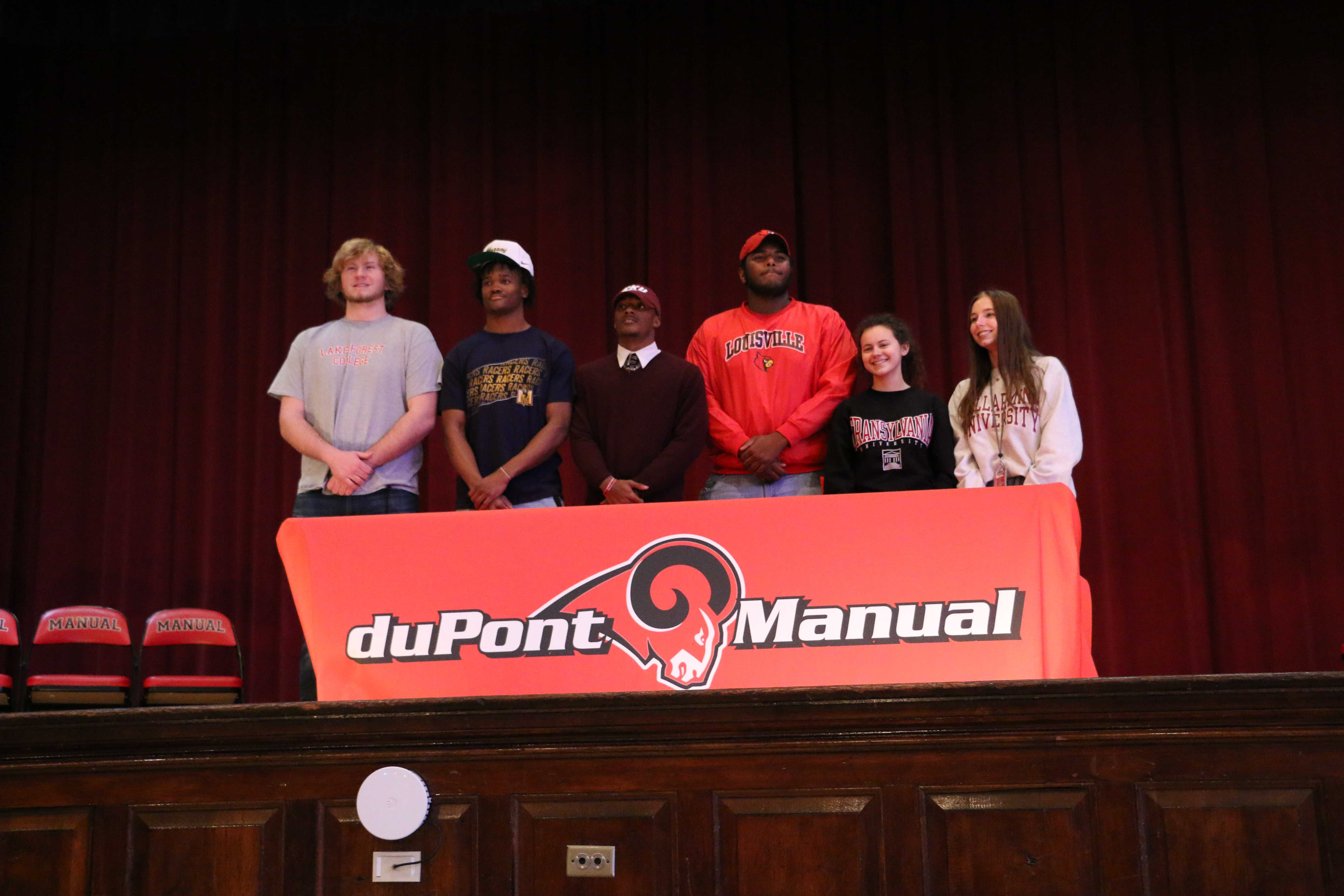 Six students sign National Letters of Intent