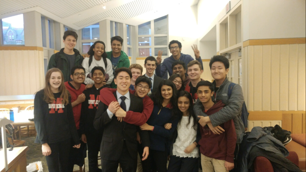 The debate team poses for a picture after a successful tournament at the University of Pennsylvania. Photo provided by Erica Cooper.