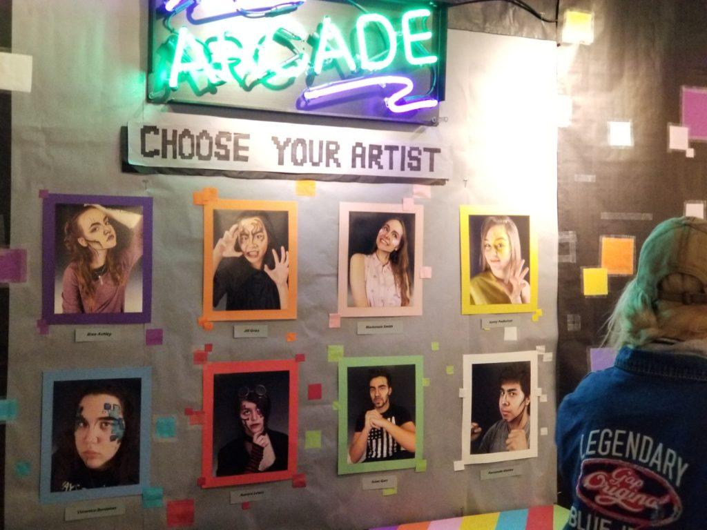 The 'Beyonce' wall features the artists included in the Arcade senior art show Mar. 8, 2018