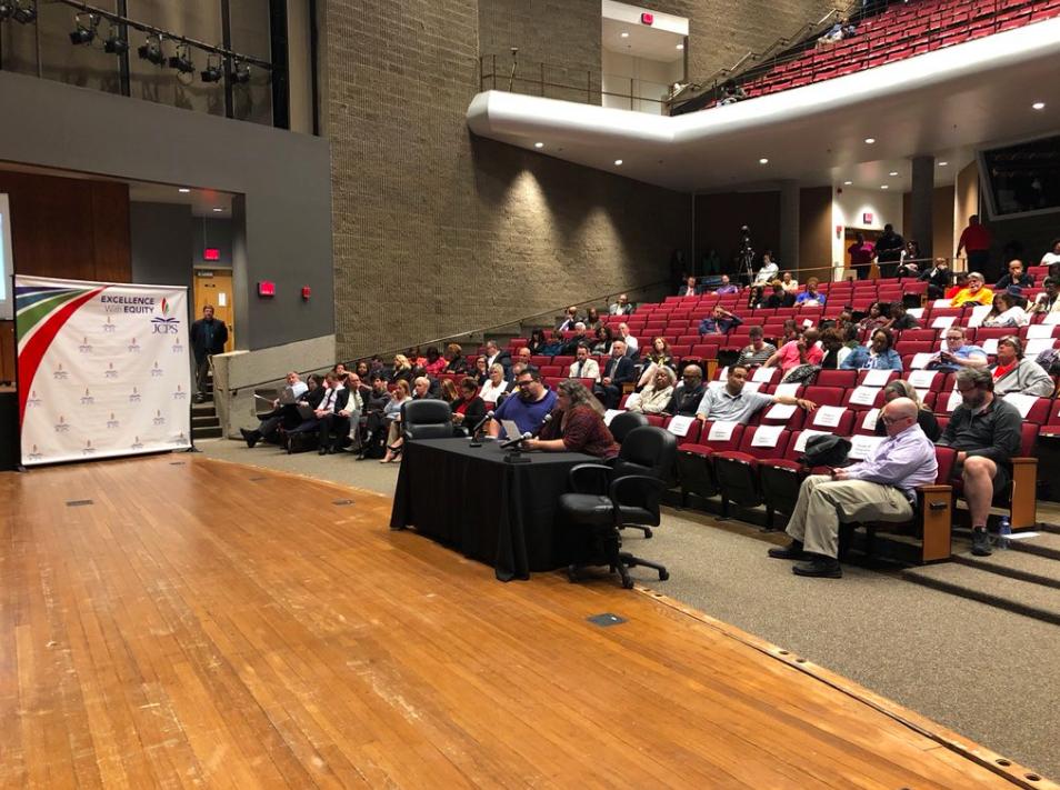 JCPS members provide debate at Board Meeting