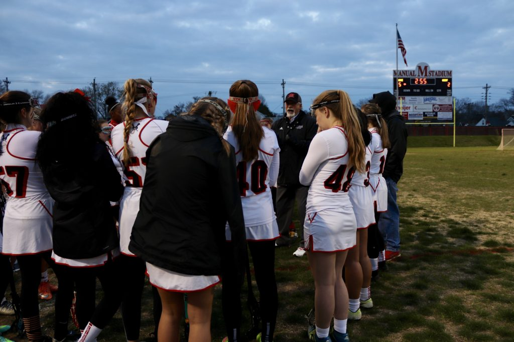 Crimsons rebel against the Rebels in girls' lacrosse