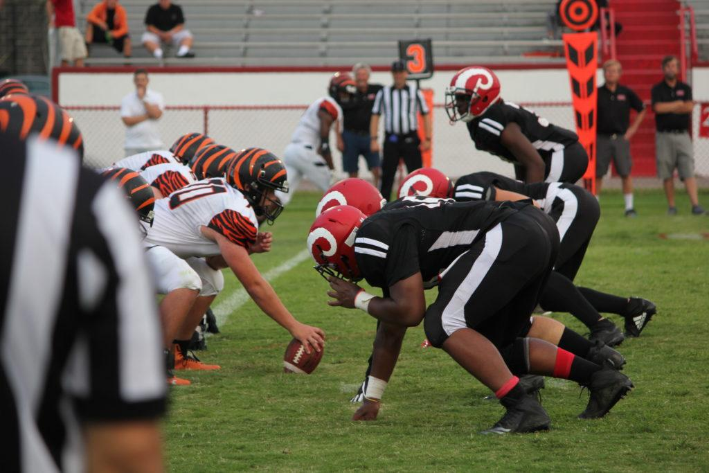 Fern Creek prepares to attack Manual's defense. Photo taken by EP Presnell.