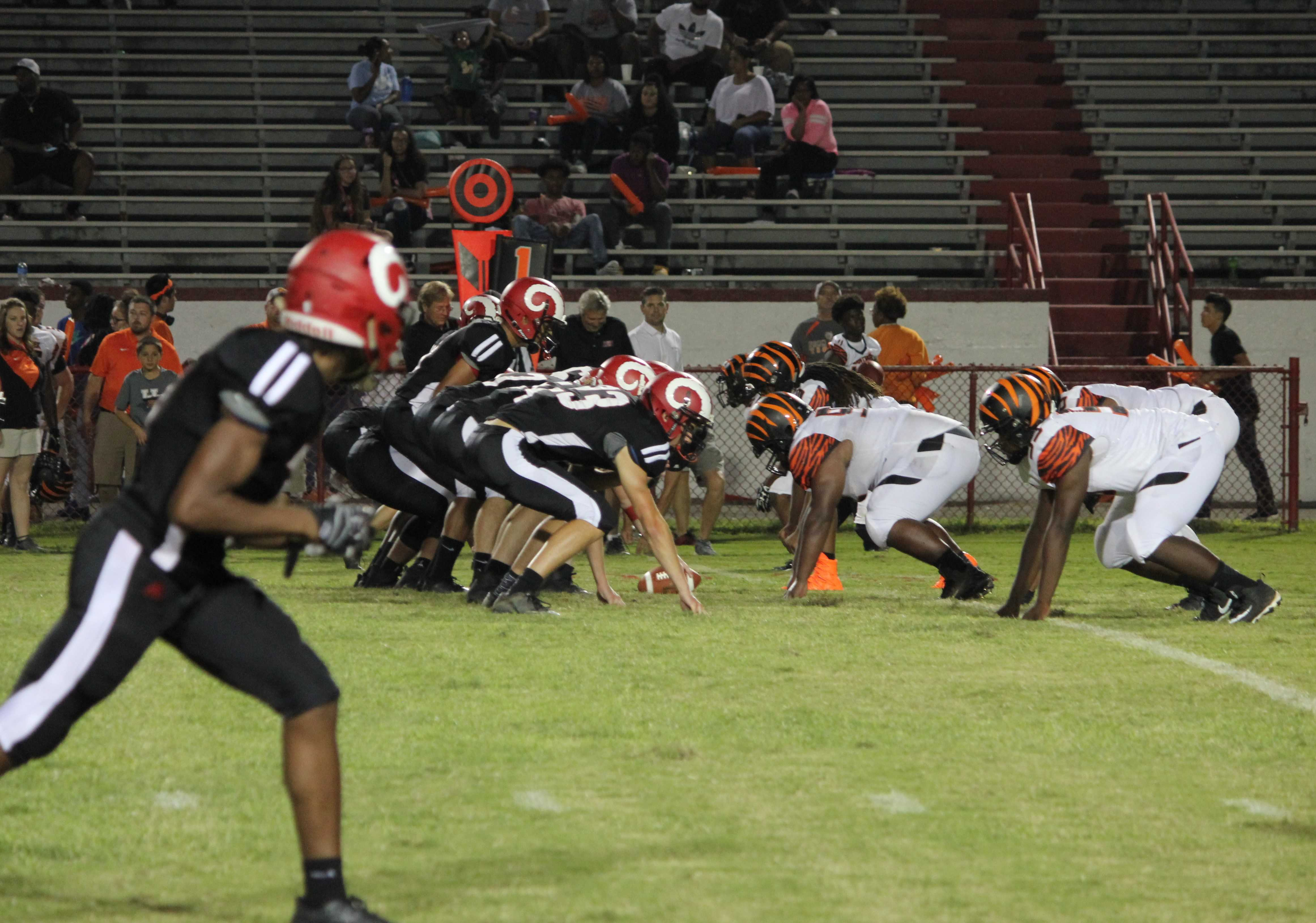 Crimsons tame the Tigers in the first home game