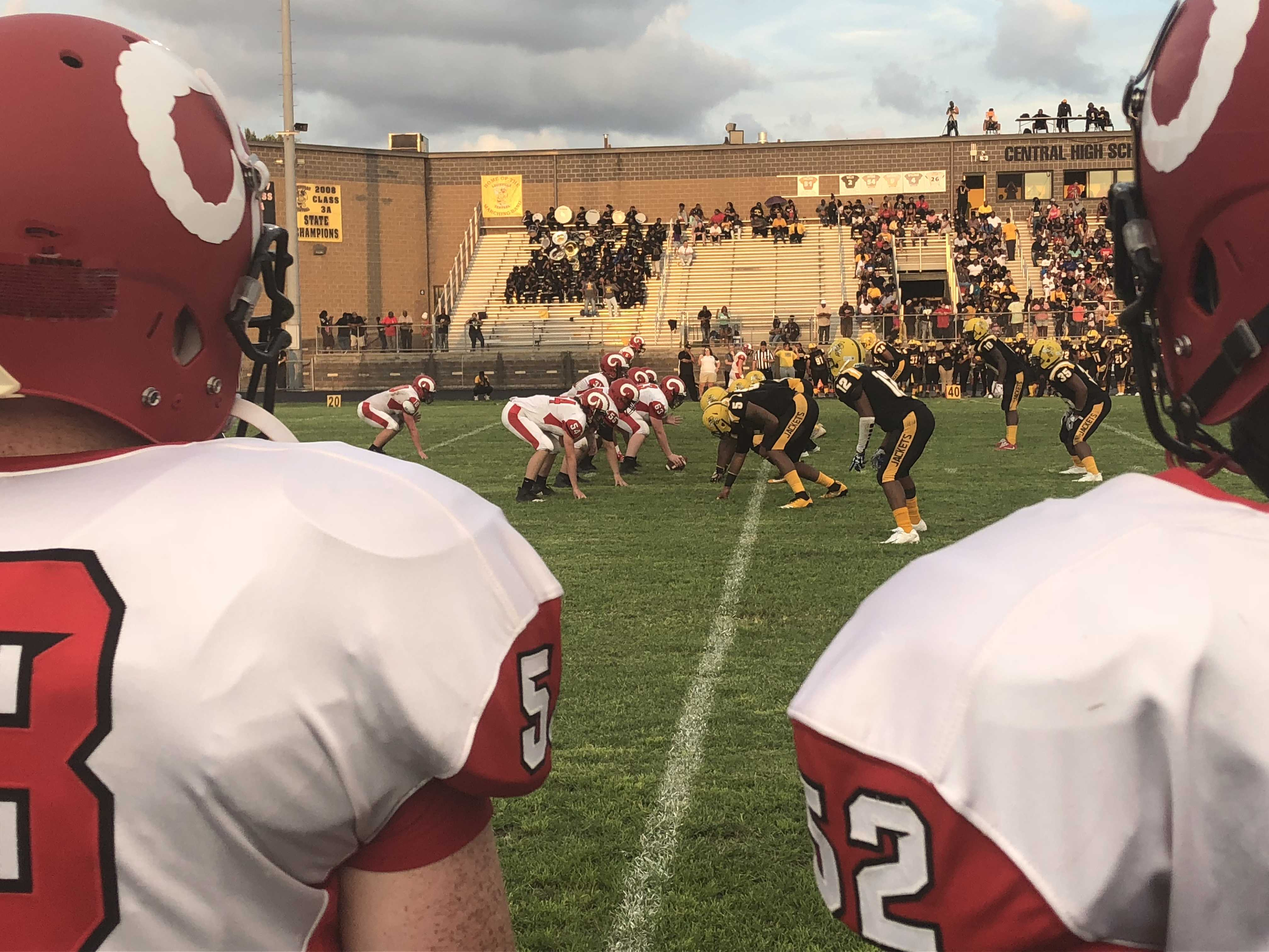 Central Yellowjackets swarm the Crimsons in season opener