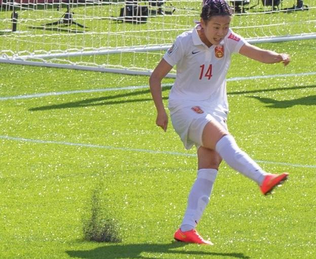 A soccer player plays on turf. The FIFA Women's world cup was played on turf in 2016.