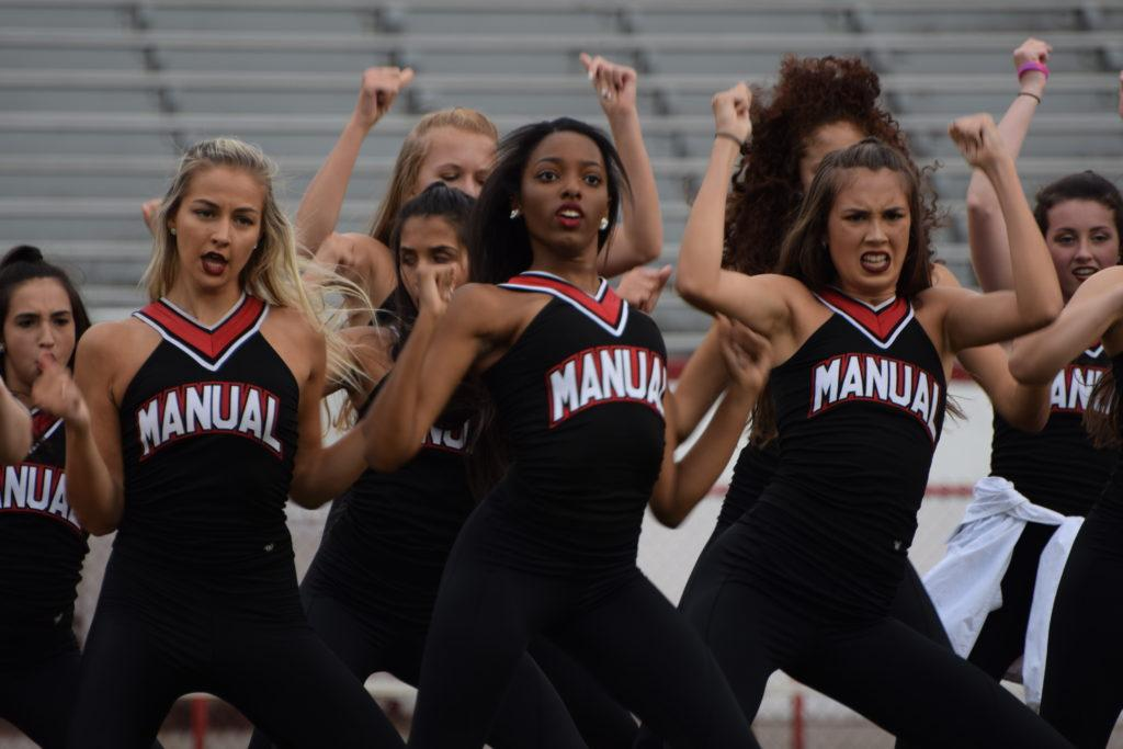 The Dazzlers perform at a football game. Photo by Pieper Mallett.