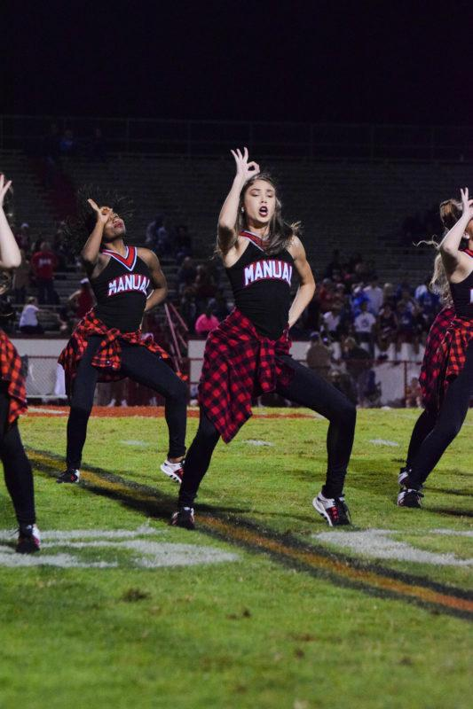 The+Dazzlers+perform+at+a+football+game+earlier+this+year.+Photo+by+Pieper+Mallett.