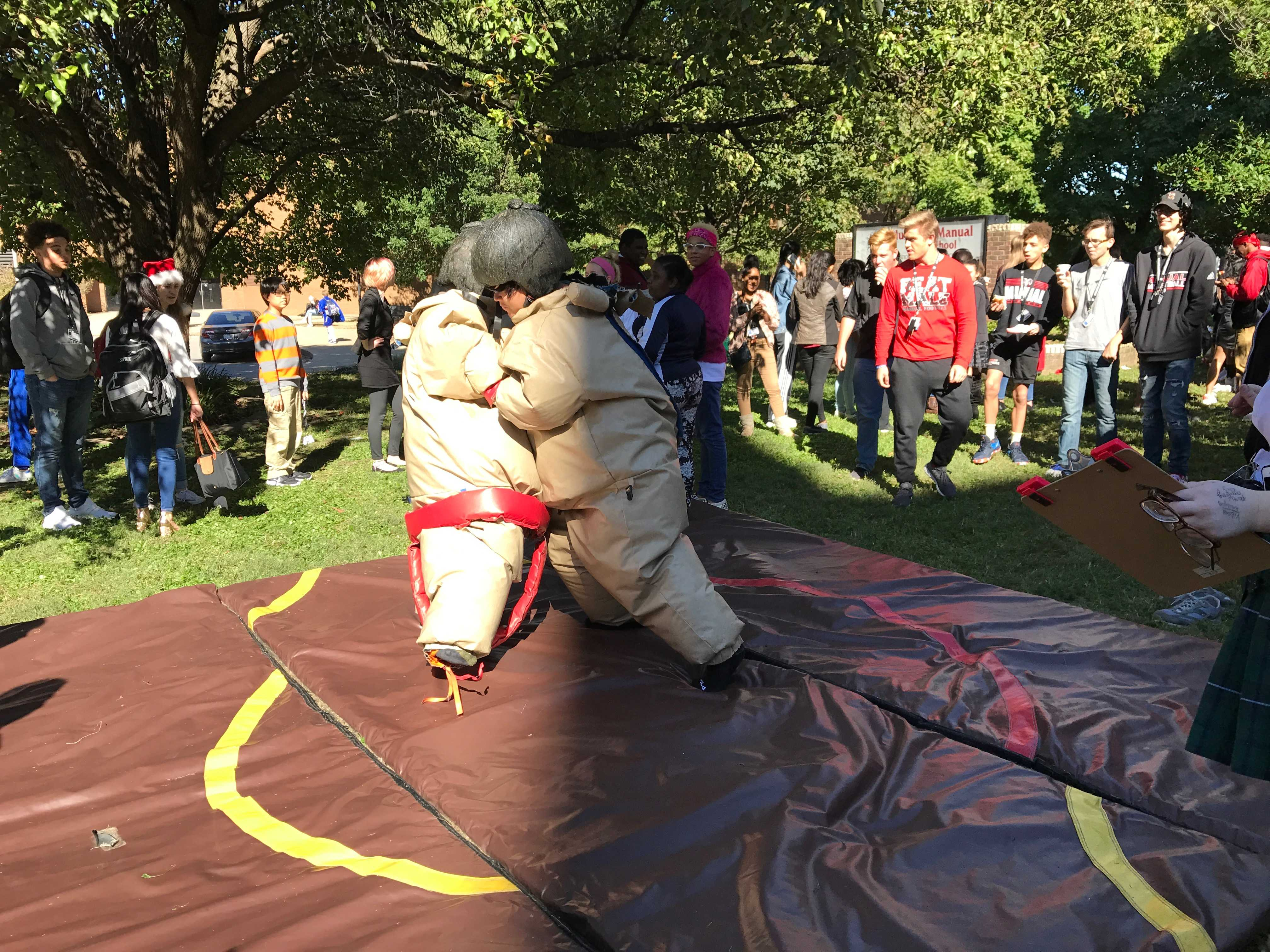 R/W Week 2018: Manual students sumo wrestle and more at the carnival