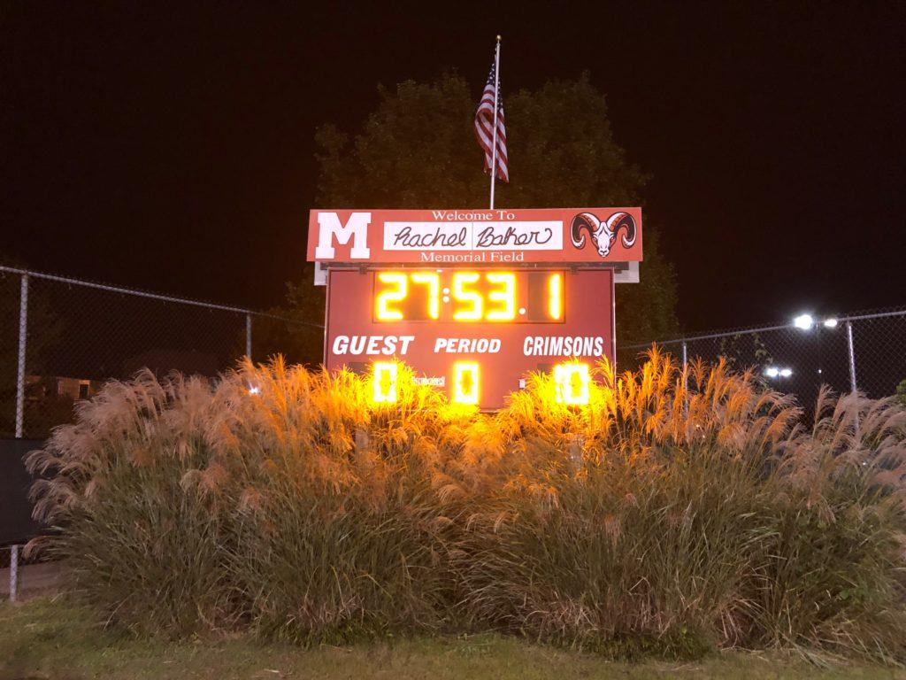 Final scoreboard of the Manual vs Butler field hockey game. Photo by Jack Bell