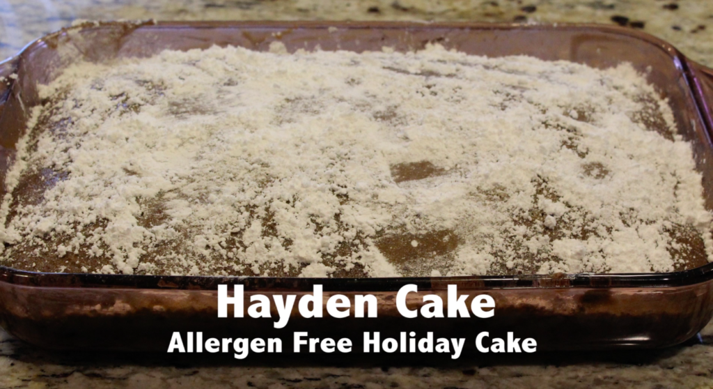 Easy allergen-free cake recipe in time for the holidays