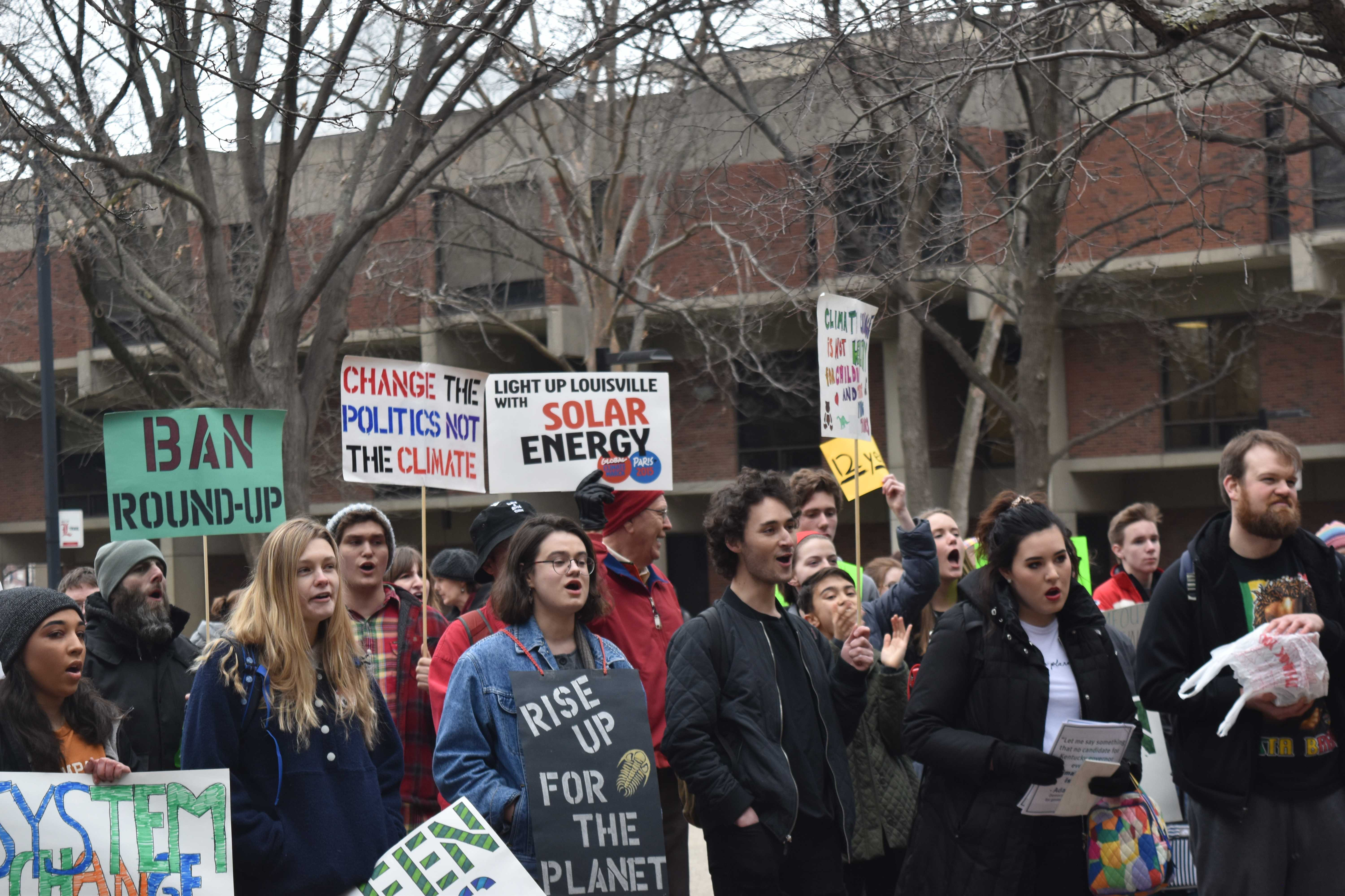 Two students contest one day suspensions after climate change walkout
