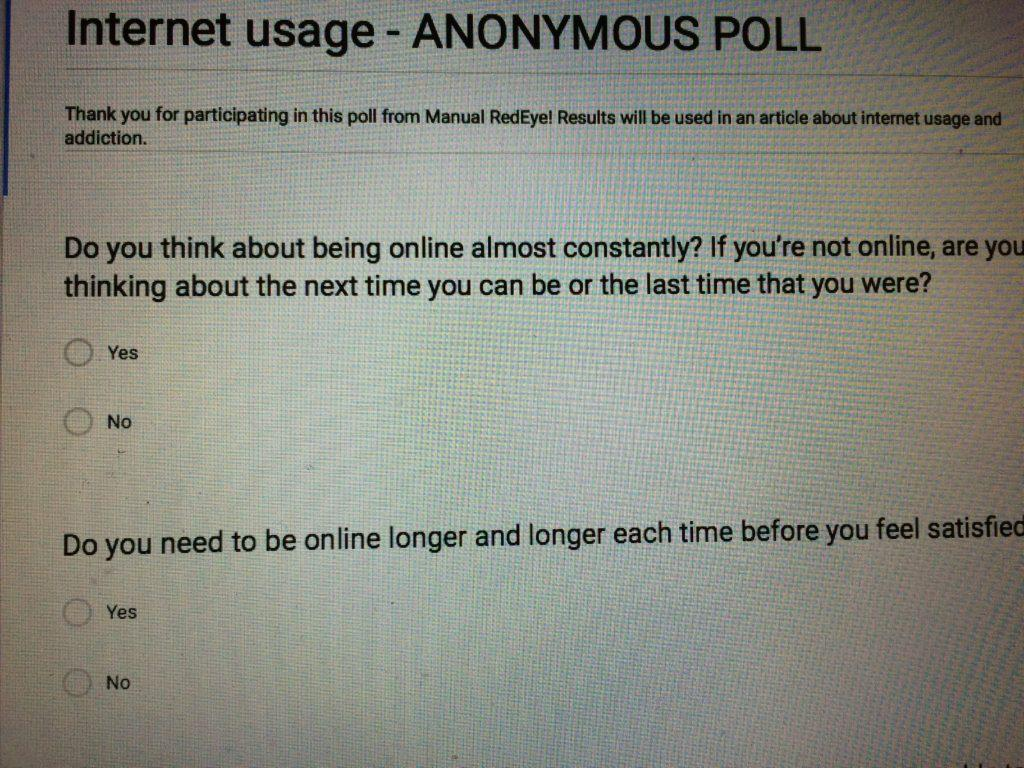 Internet usage and addiction: student survey