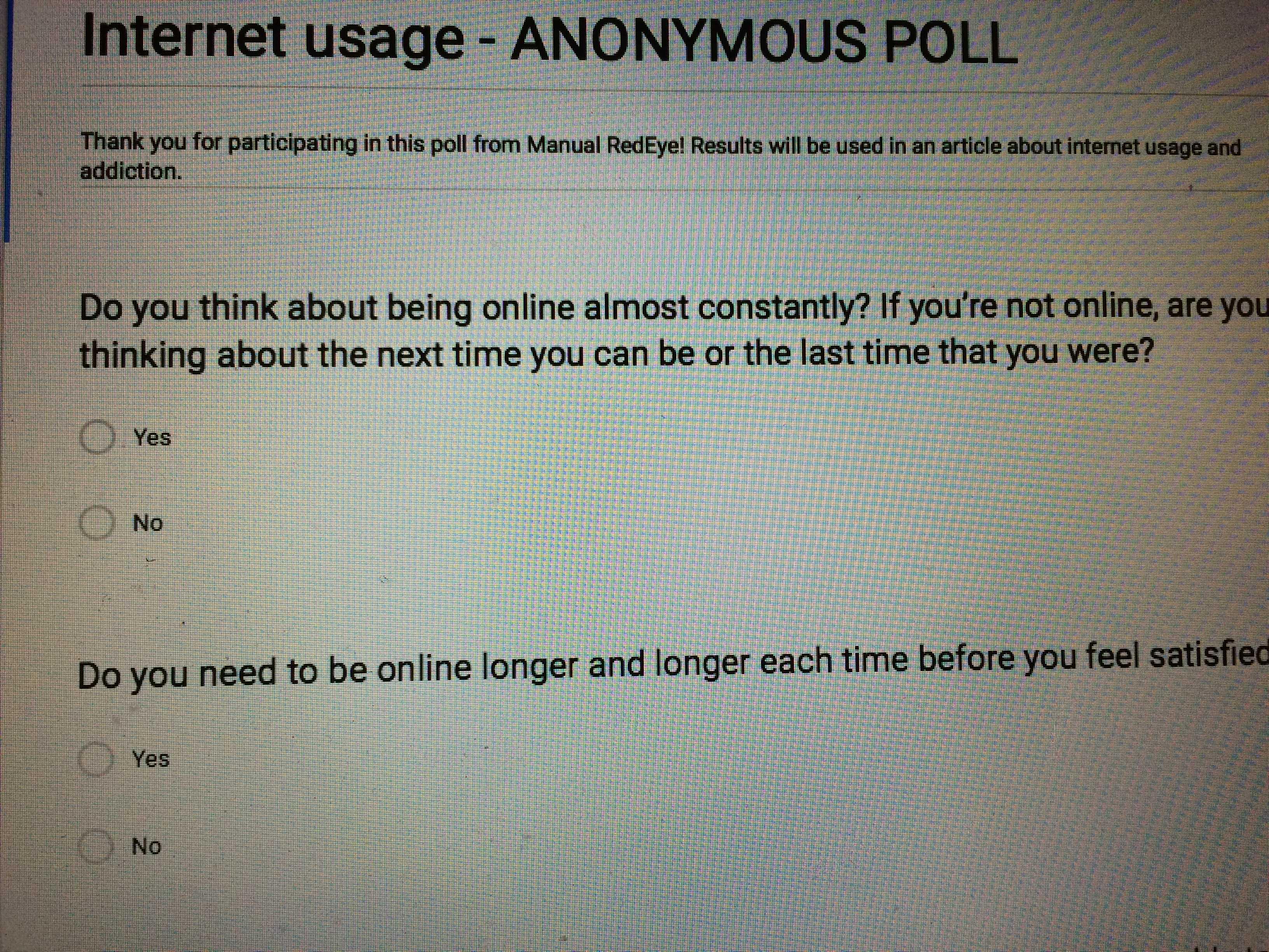 Internet usage and addiction: student survey
