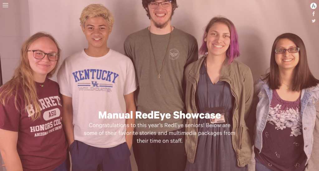 Manual RedEye's senior portfolio