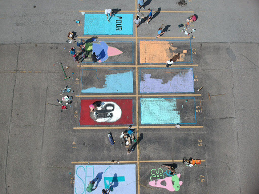 A+view+of+the+senior%27s+parking+spots+from+above%2C+something+that+many+of+them+will+never+see.+Photo+by+Sean+McInnis