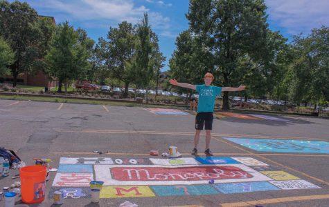 Seniors paint parking spots for Best Buddies fundraiser