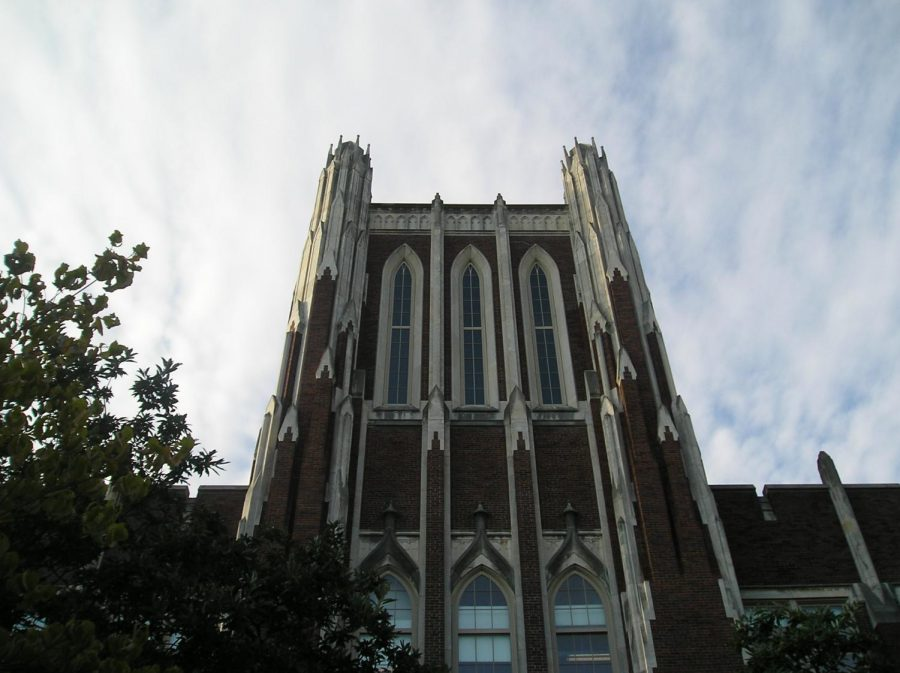 The main Tower of duPont Manual High School.