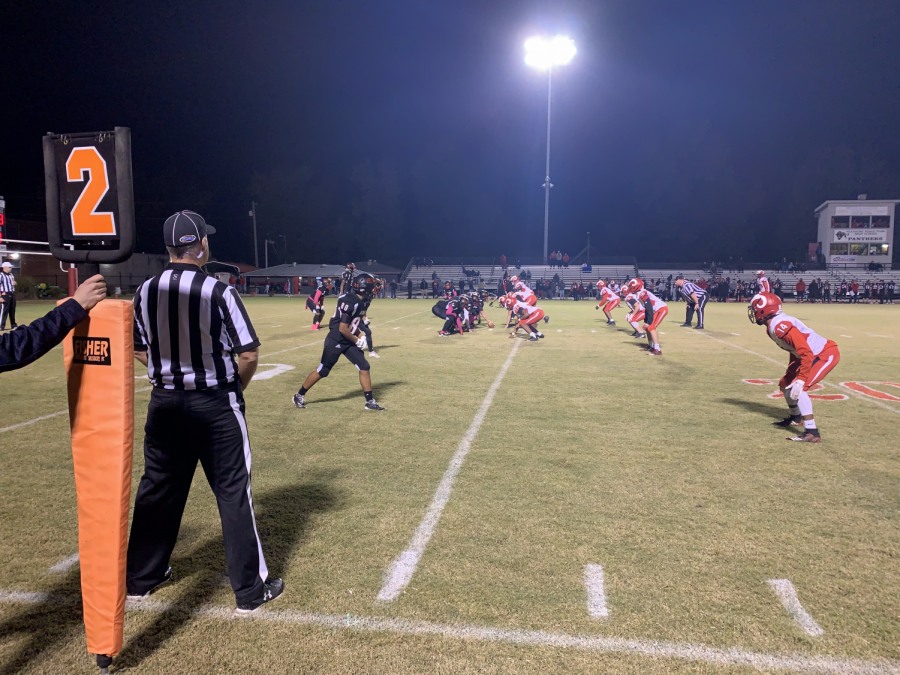 Manual put in some of their younger players during the second half. Late in the fourth quarter, PRP was trying to find a hole in Manual's defense. Photo by Reece Gunther.