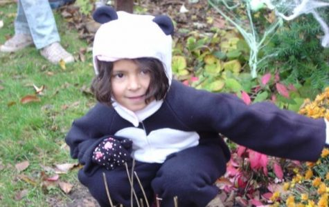 Mandala dressed as a panda for Halloween in 2009. Photo provided by Mandala Gupta VerWiebe